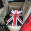 UK British Flag Print Car Seat Cushion Four Seasons General Leather Auto Rear Pads 1pcs - Black