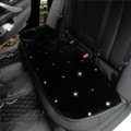 Winter Crystal Plush Car Back Seat Cushion Woman Universal High Quality Long Pads 1pcs - Black