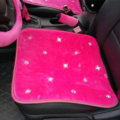 Winter Crystal Plush Car Front Seat Cushion Woman Universal High Quality Pads 1pcs - Rose