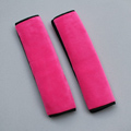High Quality 2pcs Car Safety Seat Belt Covers Plush Shoulder Pads Auto Interior Decro - Rose