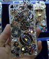 Bling S-warovski crystal cases Saturn diamond cover for iPhone 7S - Black