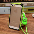 Fashion Lanyard Plastic Shell Hard Covers Back Cases Skin for iPhone 7S - Green