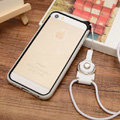 Fashion Lanyard Plastic Shell Hard Covers Back Cases Skin for iPhone 7S - White