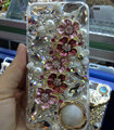 S-warovski crystal cases Bling Flowers diamond cover for iPhone 7S - Pink
