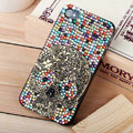 Bling Hard Covers Skull diamond Crystal Cases Skin for iPhone 8 - Color