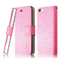 IMAK Slim leather Cases Luxury Holster Covers for iPhone 8 - Pink