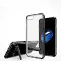 New Aluminum Bracket Bumper Frame Case  for iPhone 8 Support Silicone Back Cover - Black