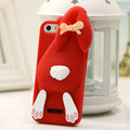 Personalized Detonation Teeth Rabbit Covers Silicone Cases for iPhone 8 - Red