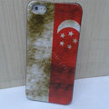 Retro Singapore flag Hard Back Cases Covers Skin for iPhone 8