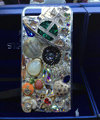 Bling S-warovski crystal cases Saturn diamond cover for iPhone 8 Plus - Green