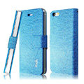 IMAK Slim leather Cases Luxury Holster Covers for iPhone 8 Plus - Blue