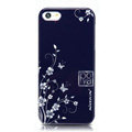 Nillkin Platinum Elegant Hard Cases Skin Covers for iPhone 8 Plus - Butterfly Flower Blue