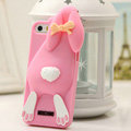 Personalized Detonation Teeth Rabbit Covers Silicone Cases for iPhone 8 Plus - Rose