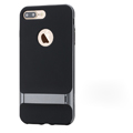 Rock Aluminum Bumper Frame Case for iPhone 8 Plus Support Silicone Pack Cover - Gray