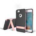 Rock Aluminum Bumper Frame Case for iPhone 8 Plus Support Silicone Pack Cover - Rose