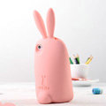 TPU Three-dimensional Rabbit Covers Silicone Shell for iPhone 8 Plus - Pink