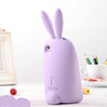 TPU Three-dimensional Rabbit Covers Silicone Shell for iPhone 8 Plus - Purple
