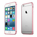 Ultrathin Aviation Aluminum Bumper Frame Protective Shell for iPhone 8 Plus - Pink