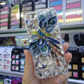 S-warovski crystal cases Bling Flower diamond covers for iPhone 7S Plus - Blue
