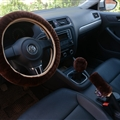 Classical 3pcs sets Winter Plush Fur Universal Car Steering Wheel Cover Handbrake Gear Knob Cover - Brown