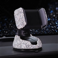Bling Crystal Car Phone Holder Magnetic Air Vent Mount Mobile Stand Magnet Support Cell GPS - White