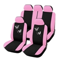 Butterflys Embroidered Car Seat Cover Women Universal Fit Most Vehicles Interior Polyester - Pink