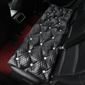 Diamond Studded Crystal Leather Auto Back Seat Cushion Woman Universal Pads 1pcs - Black