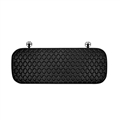 Diamond Studded Crystal Leather Car Back Seat Cushion Woman Universal Pads 1pcs - Black