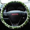 Fashion Leopard Glitter PU Leather Auto Steering Wheel Covers 15 Inch 38CM - Green