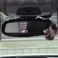 Flower Bling Women Leather Car Rearview Mirror Elastic Covers Motorcar Interior Decorate - Black