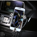 Gravity Universal Car Mobile Phone Holder Crystal Rhinestone Air Vent Mount Clip Stand GPS - White