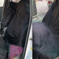 High Qality Disposable Car Waterproof Cloth Universal Seat Protector 3pcs Auto Seat Cover - Black