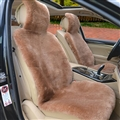 Luxury Australia Wool Car Seat Cushion Winter 100% Genuine Fur Sheepskin 1pc Front Cover - Camel