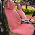 Luxury Australia Wool Car Seat Cushion Winter 100% Genuine Fur Sheepskin 1pc Front Cover - Pink
