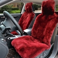 Luxury Australia Wool Car Seat Cushion Winter 100% Genuine Fur Sheepskin 1pc Front Cover - Red