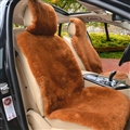 Luxury Australia Wool Car Seat Cushion Winter 100% Genuine Fur Sheepskin 3pcs Sets - Brown