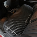Rear Studded Crystal Leather Car Back Seat Cushion Woman Universal Auto Pads 1pcs - Black