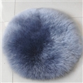 Round Long Wool Car Sheepskin Fur Chair Cushion Winter Plush Mats Home Sofa Office Pads 1pcs - Grey