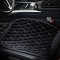 Winter Diamond Plush Car Front Seat Cushion Woman Universal Automobile Pads 1pcs - Black