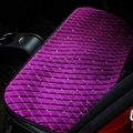 Winter Diamond Plush Car Rear Seat Cushion Woman Universal Automobile Pads 1pcs - Purple