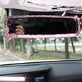 Butterfly Gorgeous Bling Bling Diamonds Crystal Car Rearview Mirror Auto Brilliant Rearview Mirror - Pink