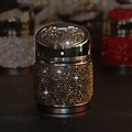 Portable Car Ashtray Crystal Bling Bling Car Ash Tray Storage Cup Holder for Girls Woman - Black