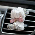 Abs Bear Beautiful Gorgeous Diamonds 1pcs Car Air-Purify Clip Auto Air Out Perfume Clip - White