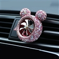 Abs Crystal Bling Bling 1pcs Car Air-Purify Clip Auto Air Out Perfume Clip - Pink