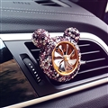 Abs Crystal Bling Bling 1pcs Car Air-Purify Clip Auto Air Out Perfume Clip - Purple