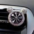 Abs Crystal Bling Bling 1pcs Car Air-Purify Clip Auto Air Out Perfume Clip - White