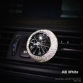 Abs Diamonds Bling Bling 1pcs Car Air-Purify Clip Auto Air Out Perfume Clip - AB White