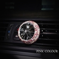 Abs Diamonds Bling Bling 1pcs Car Air-Purify Clip Auto Air Out Perfume Clip - Pink