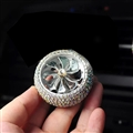 Alloy Crystal Bling Bling 1pcs Car Air-Purify Clip Auto Air Out Perfume Clip - AB White