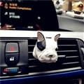 Cute Ornaments French Bulldog Car Decoration Air Freshener Solid Perfume Dog - Black White